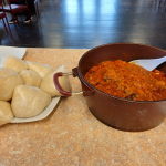 """Ghanaian delicious """"Banku dish with Okra stew"""""""