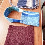 Some of the items made from he knitting class